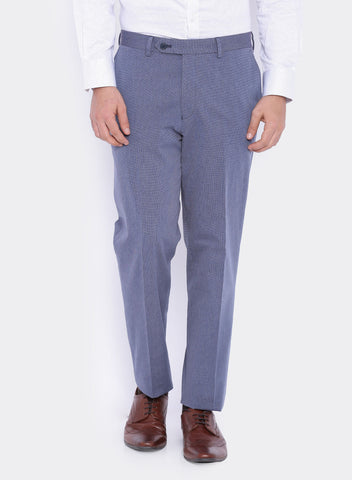 Blue Textured Men's Trouser (2062)
