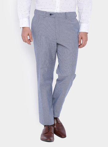 Blue Dobby Linen Men's Suit (2056)