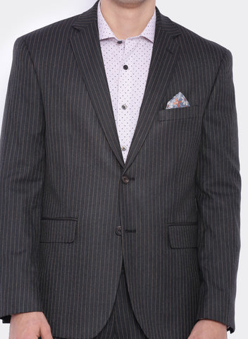 Charcoal Grey Stripe Men's Jacket (2060)