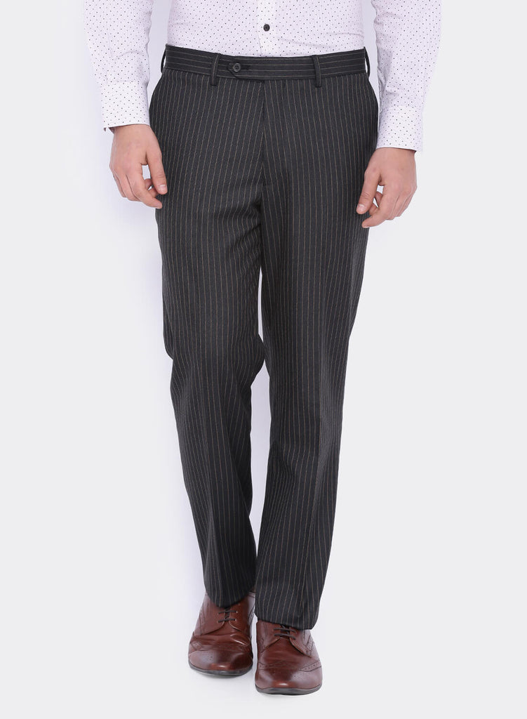 Charcoal Grey Stripe Men