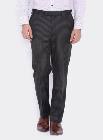 Charcoal Grey Stripe Men's Trouser (2060)