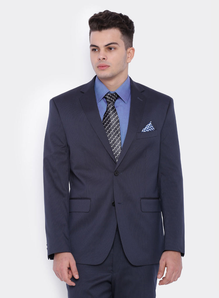 Dark Blue Pinstripe Men