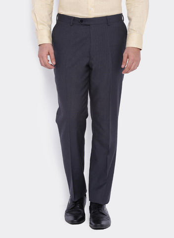 Dark Grey Textured  Men's Trouser (2005)