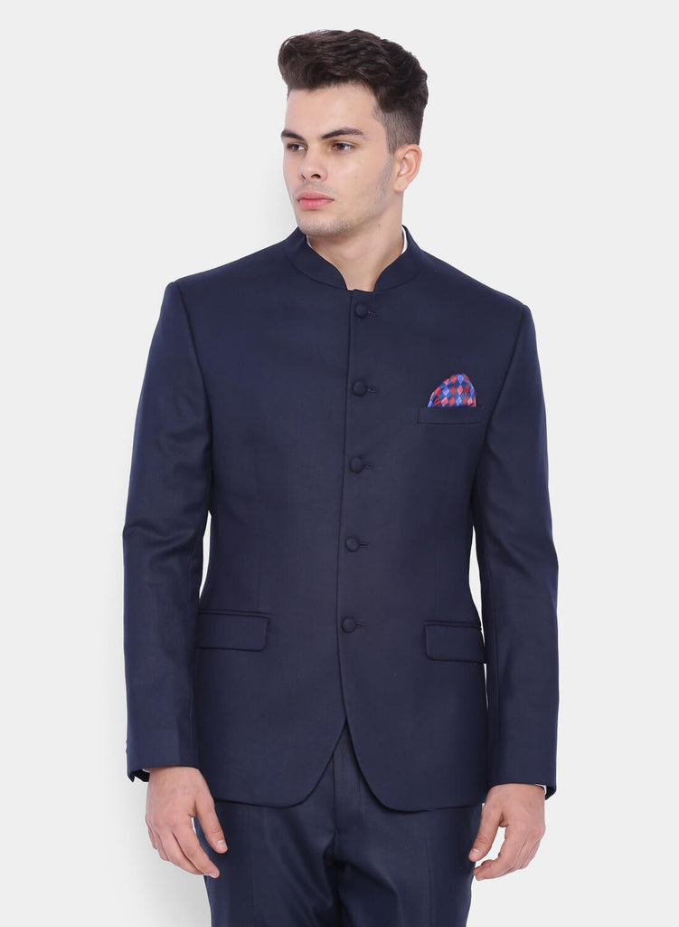 Dark Navy Bandhgala Men