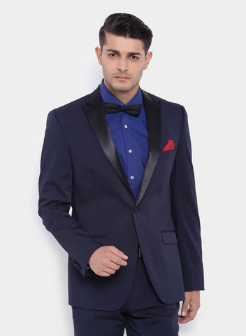 Dark Navy fine Dobby Men's Tuxedo Jacket (2016)