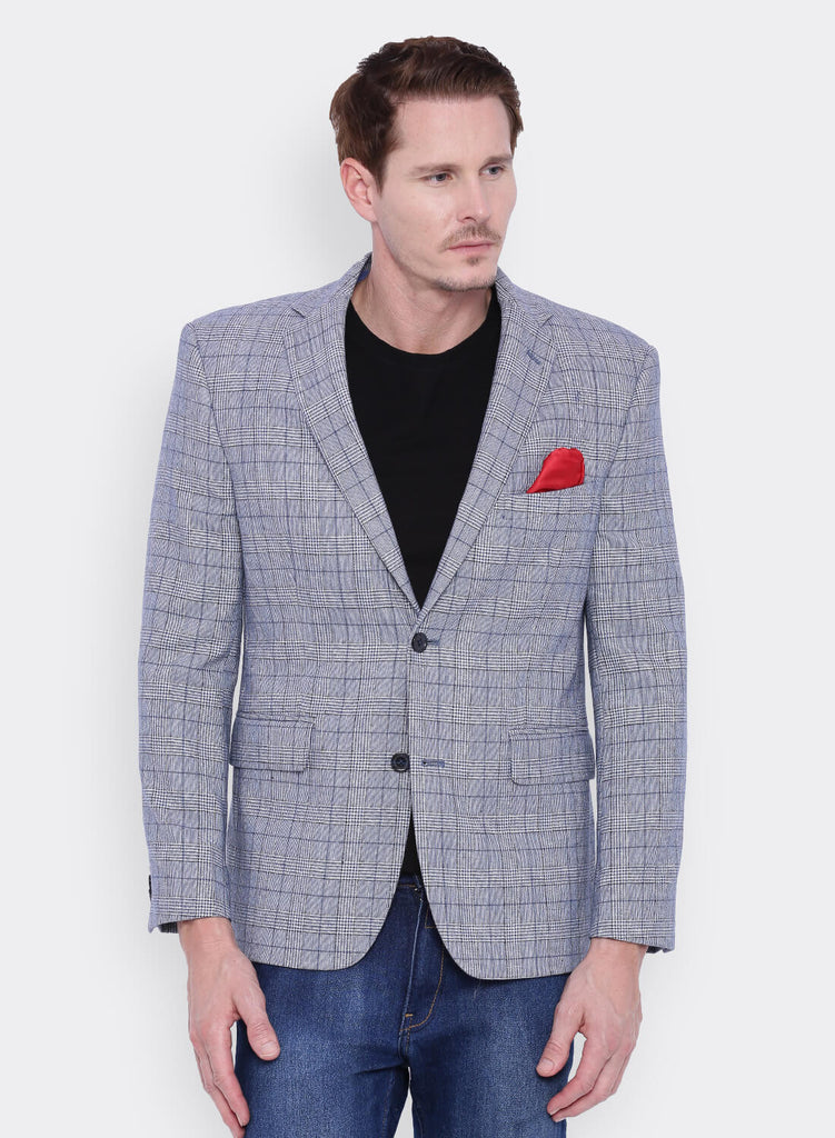 Grey Checkered Tweed Jacket (JT0233)