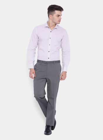 Grey Solid Men's  Trouser (2002)