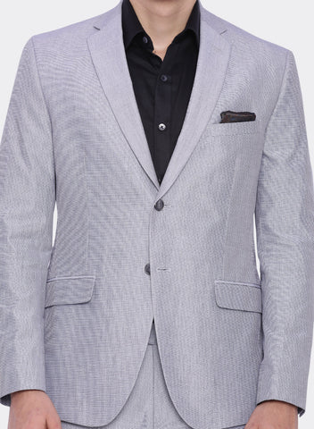 Grey Textured Men's Jacket (2061)