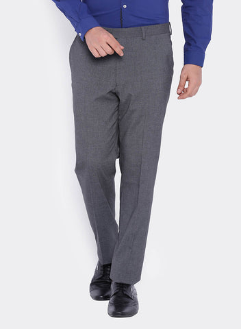 Grey Textured Men's  Trouser (2006)