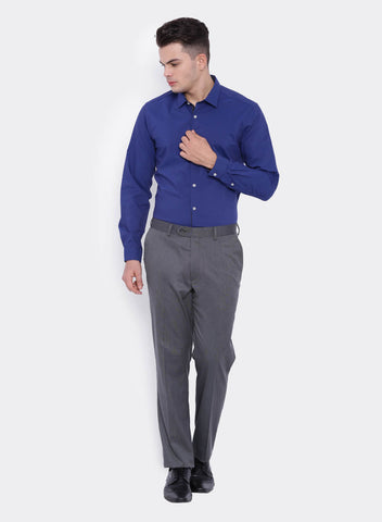 Grey Textured  Men's Trouser (2058)