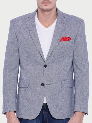 Grey Textured Tweed Jacket (JT0232)