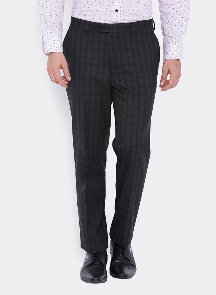 Grey and Black Check Men