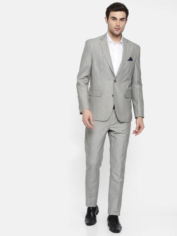 Grey Linen blend Men's Suit (ST0126)