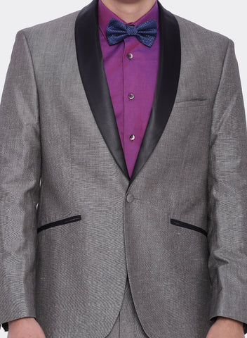 Grey Linen Men's Tuxedo Jacket (2052)