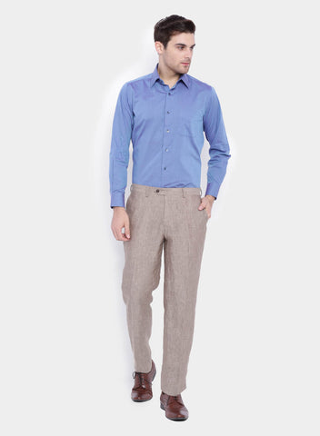 Khaki Linen Men's Trouser (2048)