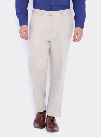Light Beige Linen Men's Trouser (2049)