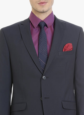 Navy Solid Men's Suit (ST0092)