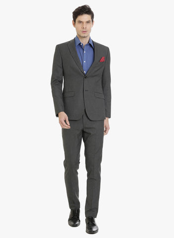 Dark Grey Stripe Men's Suit (ST0097)