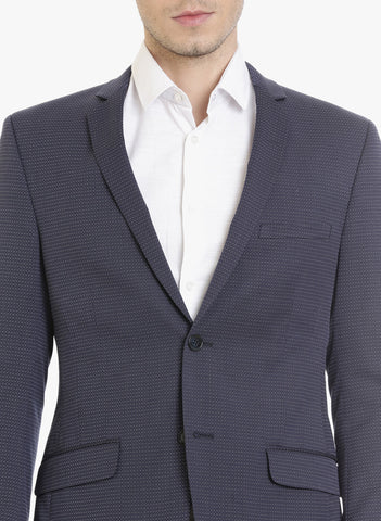 Navy Dotted Dobby Men's Jacket (JT0295)