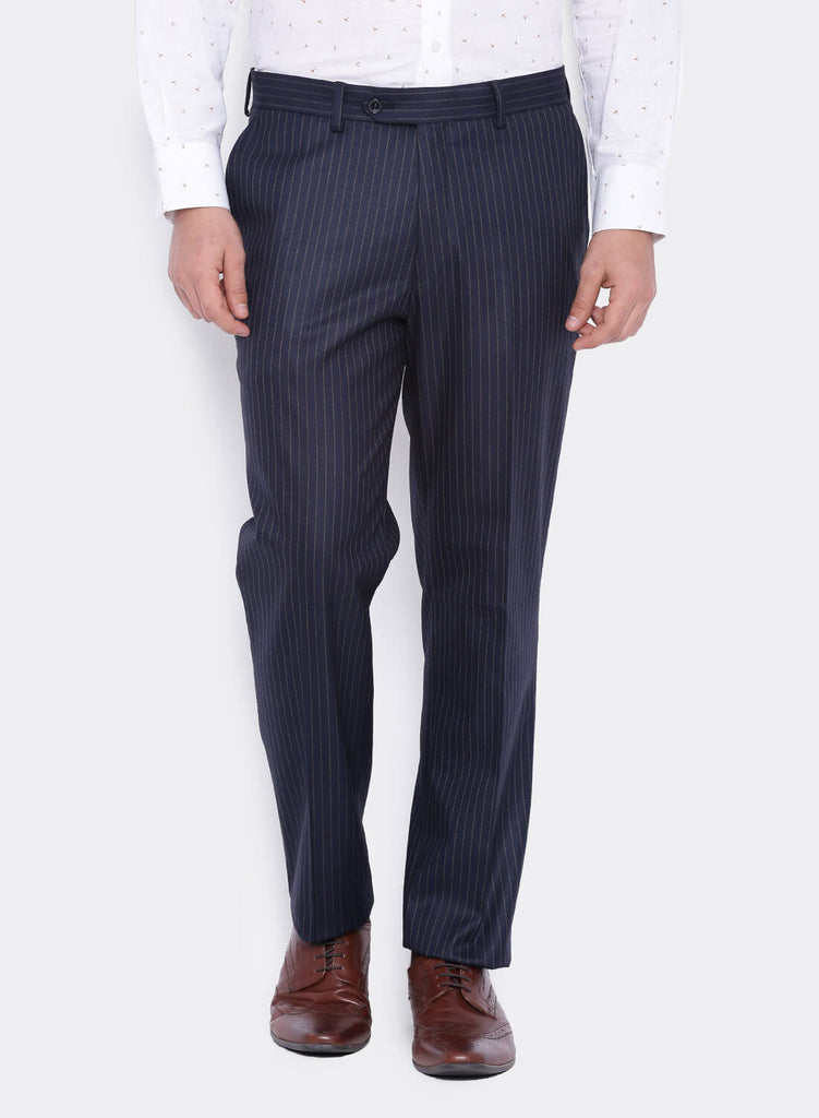 Navy Chalk stripe Men