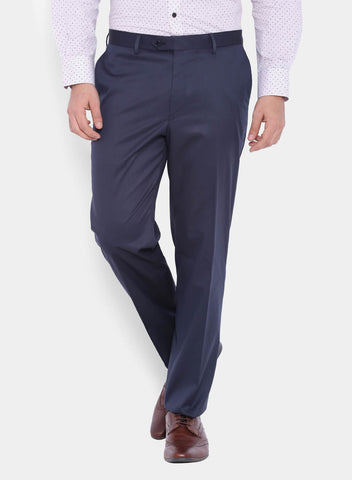 Navy Solid Men's Trouser (2066)