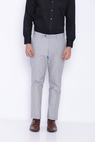 Grey Textured Men's Trouser (2061)