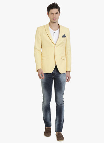 Yellow Half-Lined Men's Jacket (JT0307)