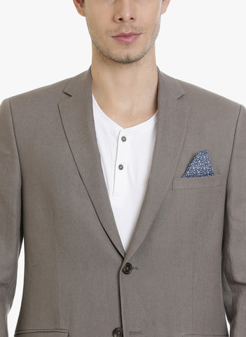 Brown Linen Half-Lined Men's Jacket (JT0309)