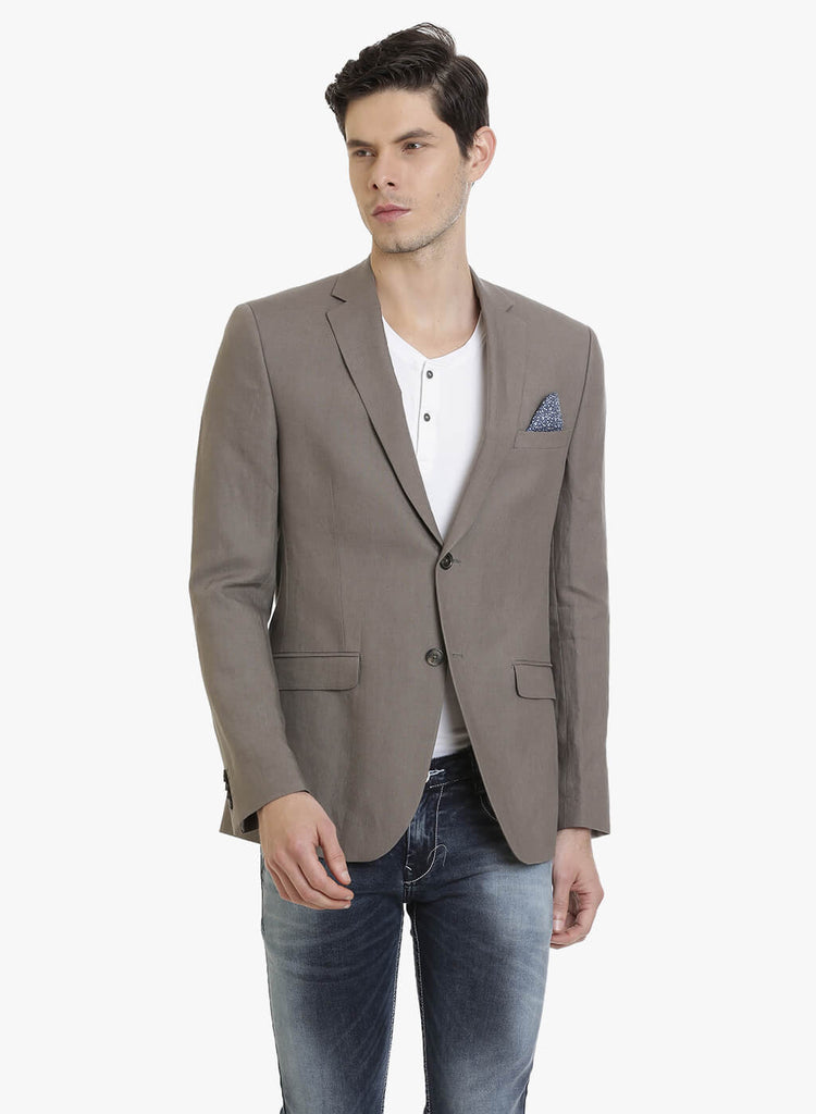 Brown Linen Half-Lined Men