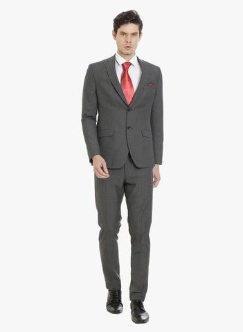 Dark Grey Stripe Men's Suit (ST0094)