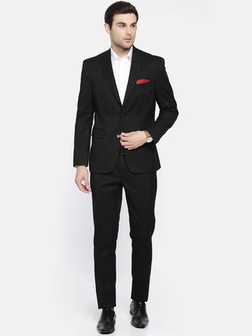 Black Wool blend Men's Suit (ST0125)
