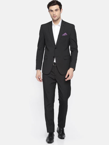 Black Striped Men's Suit (ST0109)