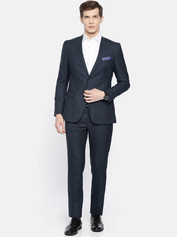 Blue Wool Men's Suit (ST0106)