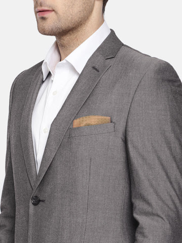 Grey Solid Men's Suit (ST0114)