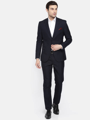 Dark Navy Solid Men's Suit (ST0104)