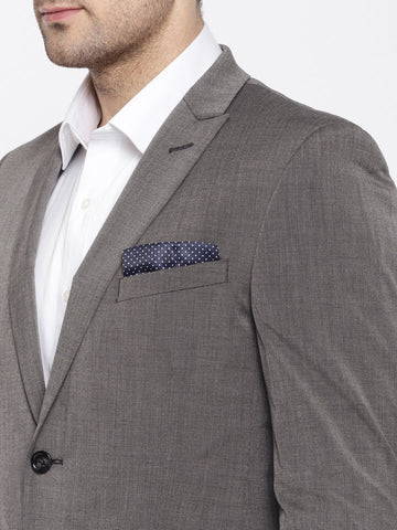 Charcoal Grey Solid Men's Suit (ST0120)