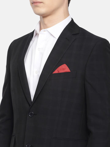 Dark Navy Checked Men's Suit (ST0128)