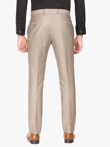 Brown Linen Men's Trouser (PT0118)