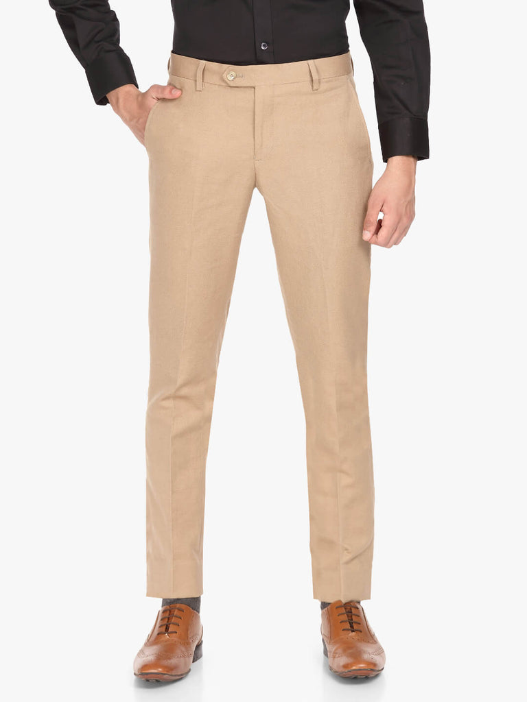 Tan linen blend Men