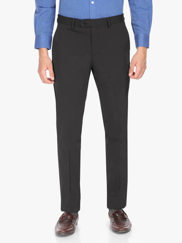 Black Solid Men's Trouser (PT0125)