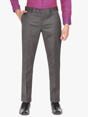 Grey Herringbone Men's Trouser (PT0122)