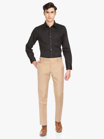 Tan linen blend Men's Trouser (PT0115)