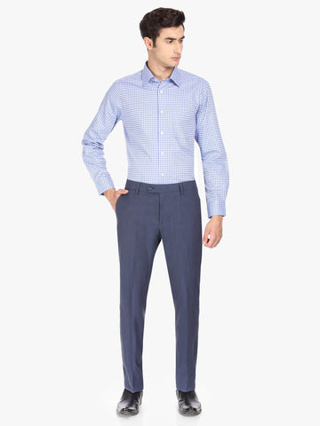 Navy Linen Blend Men's Trouser (PT0099)