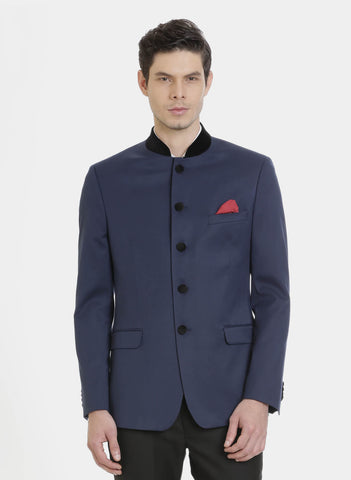 Navy Royal Bandhgala Men's Jacket (JT0320)