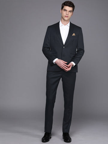 Navy Solid Men's Suit (ST0123)