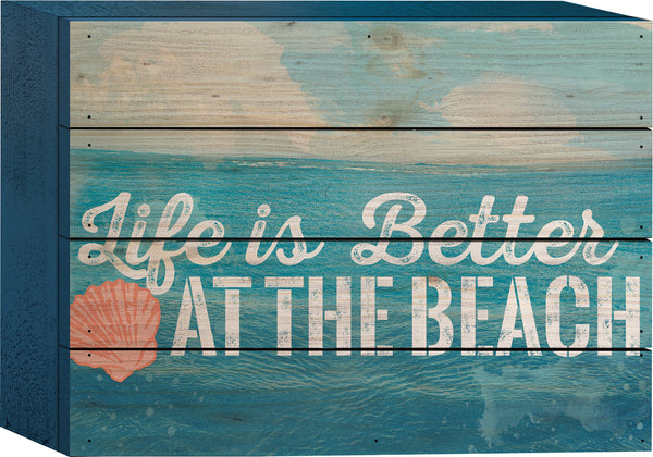 Life is Better Beach Tabletop Sign - PuzzleMatters