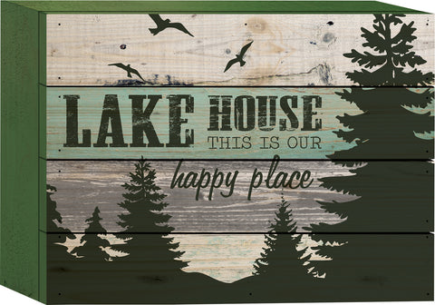 Lake House Tabletop Sign - PuzzleMatters