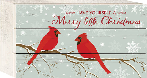 Cardinal Christmas Tabletop Sign - PuzzleMatters