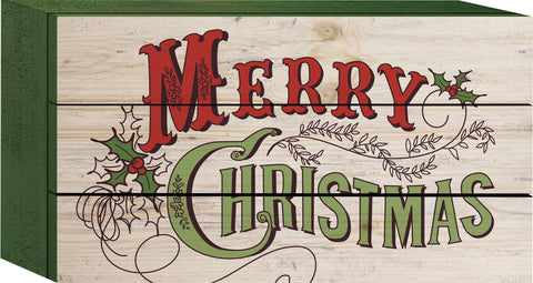 Classic Merry Christmas Tabletop Sign - PuzzleMatters