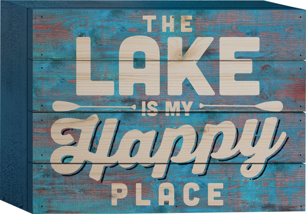 The Lake is my Happy Place Tabletop Sign - PuzzleMatters